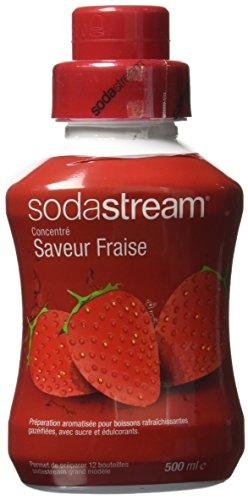 Sodastream Concentré Sirop Saveur Fraise pour Machine à Soda 500 ml