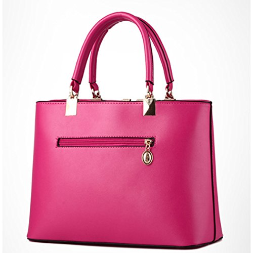 Sacchetto trasversale della traversa della borsa del cuoio del faux delle signore calde delle donne Rosa