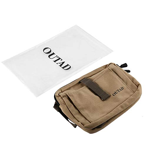 Heaviesk Hundesatteltasche Dog Pack Harness Canvas-Satteltasche mit verstellbarem Tragegurt für Outdoor-Reisetraining Camping