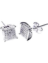 bc6de144dd72 earrings-midwestjewellery hombre 1 5cttw diamante Stud Pendientes Forma de  Cubo con 10 K