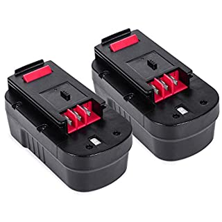 A18 Battery 2 Packs, LENOGE 18V 3.0Ah Black+Decker Replacement Battery for A18E HPB18 HPB18-OPE Firestorm, Fit Black&Decker Power Tool HP188F2K HP188F3 EPC188 EPC18CA GTC800 GTC610