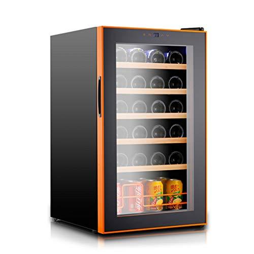 Sonw Yang Freistehender Touchscreen-Weinkühlschrank mit elektronischer Steuerung, Weinkühler mit konstanter Temperatur und Schloss und LED-Kaltlichtquelle für bis zu 24 Standardflaschen -