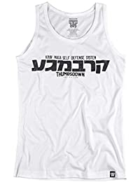 Krav Maga Tank Top. Vest. Krav Maga Self Defense System. Thumbsdown Last Fight. Gladiator Bloodline. Martial Arts. Fightwear. Training. Casual. Gym. MMA T-shirt