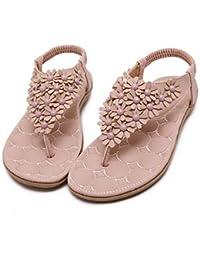FSCHOOLY Womens Shoes Polipiel Comodidad Novedad Moda Primavera Verano Botas Sandalias Planas Para Boda Gris Rosado...