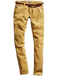Timezone Damen Hose 16-0119 New MillaTZ chino pants incl. Belt Skinny / Slim Fit (Röhre) Normaler Bund
