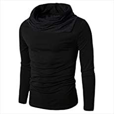Try This Men's Cotton Boat Neck Full Sleeve T-Shirt