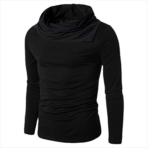 Try This Men's Cotton Boat Neck Full Sleeve T-Shirt (Black, Large)