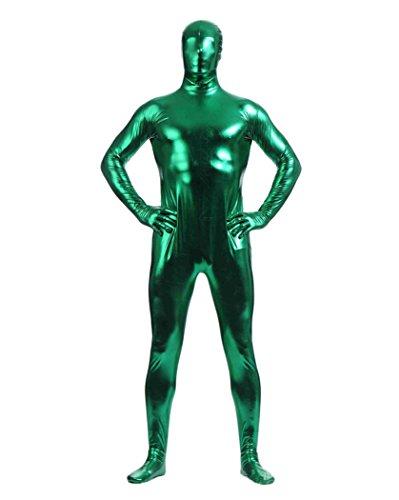 Gladiolus Herren Second Skin Kostüm Ganzkörperanzug Anzug Suit Catsuit Anzug Halloween Grün - Grün Skin Suit Kostüm