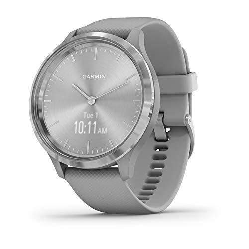 Garmin vívomove 3 : montre connectée à aiguilles mécaniques et écran tactile avec suivi GPS- Silver/ Powder Gray - Cadran 44MM