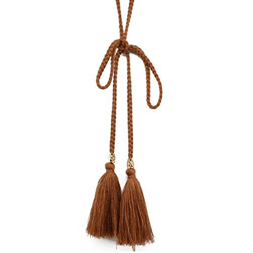 PDFGO Quasten Gürtel Frauen Taillenseil Retro National Wind Hand Quaste Taille Seil Baumwollgürtel Weibliche Crony Geknotet Anhänger 170cm,10-170cm (Folklore Kostüme)