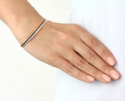 Joelle Jewellery Bracelet jonc Plaqué Or Femme noir