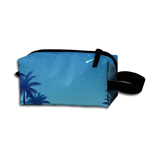 Beautiful Coconut Palms Receive Bag Fashion Practical Kosmetiktasche Zipper Hand Printed Bag Makeup kit Bag -