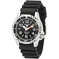Army Waterproof Watch Sport by Eichmüller Divers Watch with PU Strap 50 ATM (500 M) EP854