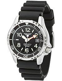 Army Watch Sport by Eichmüller–Reloj de Buceo con correa de PU 50atm (500m resistente al agua) ep854