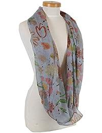 Taschentrend floroppa – Loop Écharpe écharpe pour femme avec motifs de  fleurs et de nombreux Designs 6b5b5a482a7