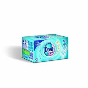 Dash 2 en 1 - 81242473 - Lessive Tablettes - 16 Lavages - Boîte de 32 Tablettes - Source de Fraîcheur