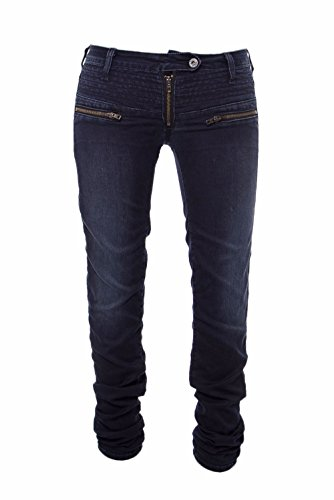 PLEASE - P19mgz1t68 jeans slim femme pantalons Denim Foncé