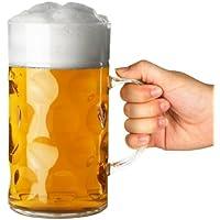 Plastic Beer Stein 2 Pint - bar@drinkstuff 1ltr Beer Stein, German Stein, Plastic Beer Mug