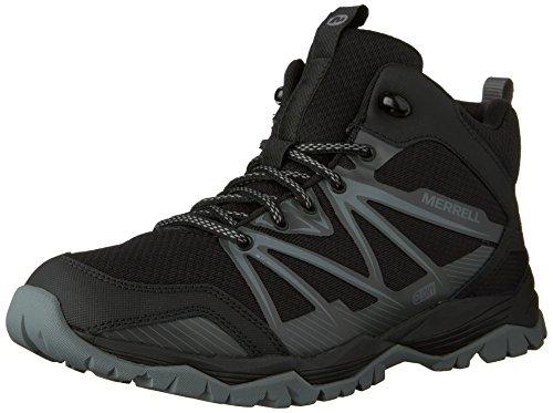 Merrell Capra Rise Mid Waterproof - Chaussures - gris/noir 2016 Black