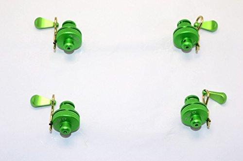 Preisvergleich Produktbild Arrma Nero 6S BLX (AR106009, AR106011) & Fazon 6S BLX (AR106020) Tuning Teile Aluminium Front & Rear Magnetic Body Mount - 1 Set Green