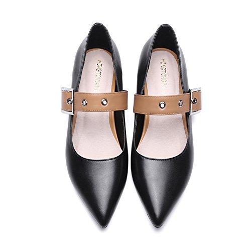 Light fashion Lady brute avec chaussures au printemps/Han a fait souliers pour dames Joker bouton des A