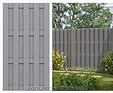 bambus-discount.com WPC Gartenzaun, 100% blickdicht 95x179cm - Sichtschutz, Sichtschutz Elemente, Sichtschutzwand, Windschutz