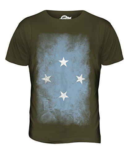 CandyMix Mikronesien Verblichen Flagge Herren T Shirt Khaki Grün