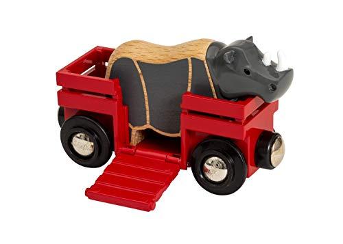 Brio Vagone con Rinoceronte, Multicolore, 33968