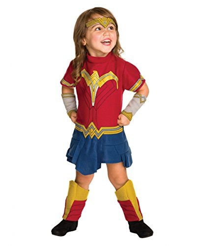 Originales DC Comics Wonder Woman Kostümkleid für Kleinkinder 12-24 (Batman Woman Wonder Superman Vs Kostüm)