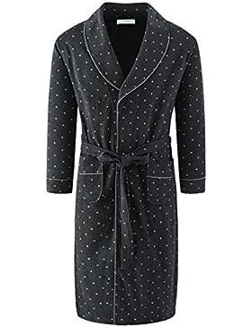 Pijama de hombre/algodón camisón/albornoz largo