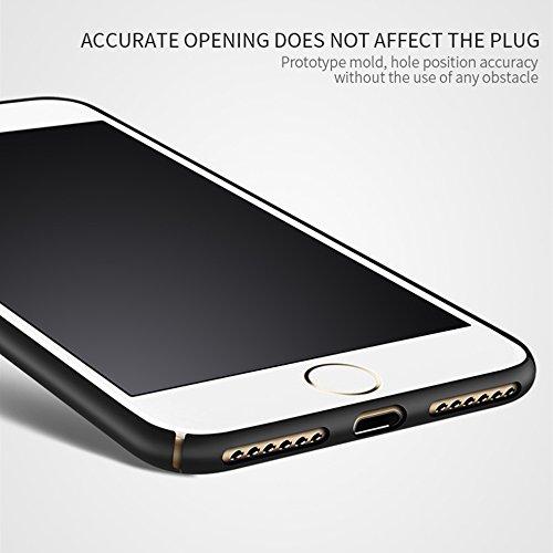 iphone 6 Silikon Hülle,SUNAVY 360-Grad Ultra-Dünn Anti-stoß Weich Schutzhülle,Inklusive ein Geschenk Gehärtetem Displayschutzfolie für Apple 6s,4.7zoll,Schwarz Schwarz