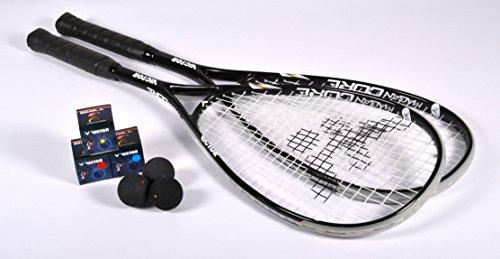 Victor Squashschläger Set Magan Core, 2 Rackets / 3 Bälle