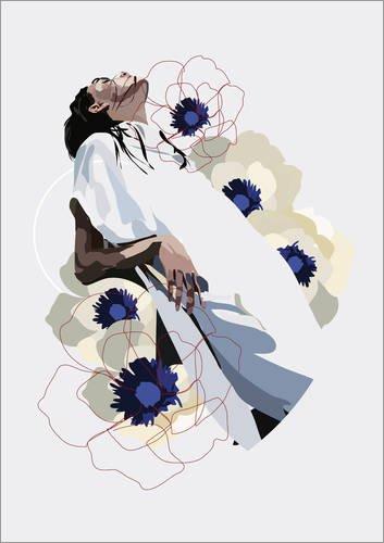 Posterlounge Holzbild 90 x 130 cm: In Bloom von Anna McKay