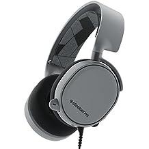 SteelSeries Arctis 3, Auriculares para Juego, Compatible con Las Plataformas PC, Mac, Playstation 4, Xbox One, Nintendo Switch, Android, iOS, VR, Color Gris (Slate Grey)