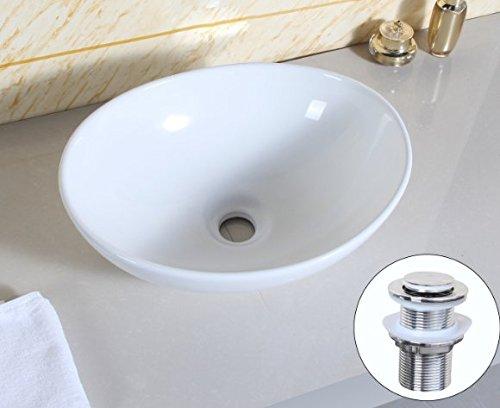 chuangke bagno Piano Ovale Top Lavabo in ceramica