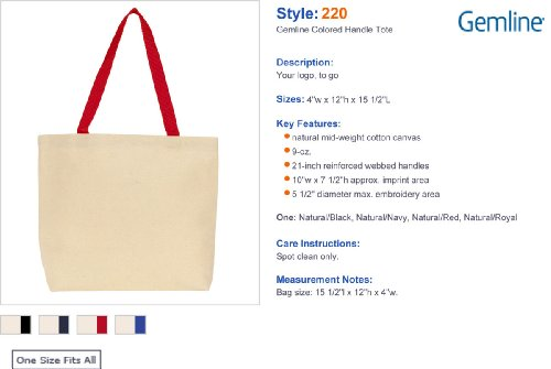 Gemline da donna Colored manico borsa. 220 Natural/ Royal