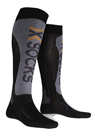 X-Socks Funktionssocken Factor, Black/Grey Moulinè, 39/41, X020328