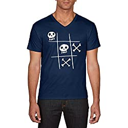 Touchlines Tic Tac Dead T- T-Shirt, Bleu (Navy 18), Small Homme