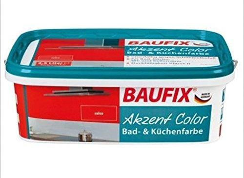 Baufix Akzent Color Salsa Bad und Küchenfarbe Anti Schimmel Schimmelfarbe Lacke Farbe