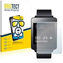 BROTECT AirGlass Protector Pantalla Cristal Flexible Transparente para LG G Watch Protector Cristal Vidrio - Extra-Duro, Ultra-Ligero, Ultra-Claro