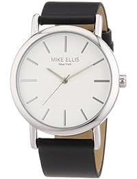 Mike Ellis New York L2979/2 - Reloj de pulsera para mujer, correa de piel, color negro