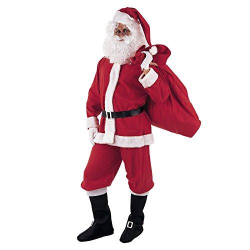 Weihnachtsmann Kostüm Herren rot perfekt zum Fest - (Shirt Santa Erwachsene Kostüme Claus)