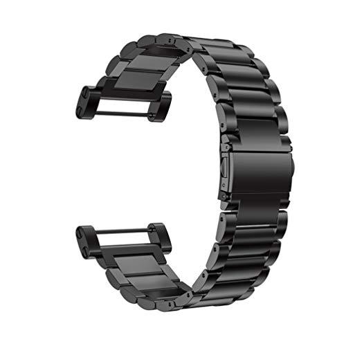Weixingguang per SUUNTO Core Smartwatch Watchbands di Ricambio, SUUNTO Core Smartwatch Cinturino da Polso sostitutivo, Metal Strap Wristband di Ricambio Strap Extendable Bracelet(No Tracker) (Nero)