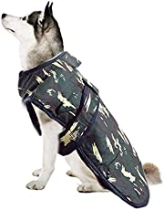 Sage Square Dog Winter Ultra Warm Camouflage Army Coat Thicker Fleece Dog Hoodie Vest for Cold Weather (Size: XLarge) (26 Inches)