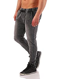Hombres Pantalones De Jogging Pantalones Deportivos Pantalón Chándal Blanqueado Deporte Ocio Pantalón Jogger Pantalones Jeans Ópticos Denim Nº A-10310