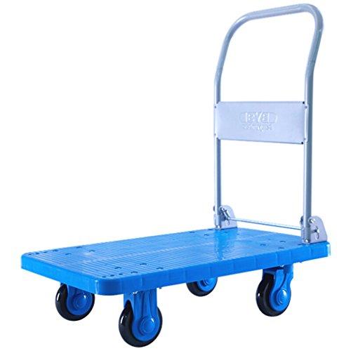 MEI XU Nutzfahrzeug Kunststoff Van Medium 80x50 cm Trolley Handwagen Blau Flachbett Faltbare Trolleys Laden 250 KG @