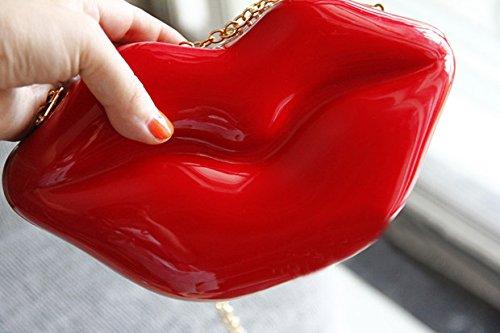 Zarapack, Poschette giorno donna Rosso red Red