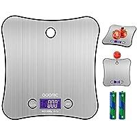 ADORIC Balance Cuisine Electronique Balance de Précision 5kg/1g, Acier Inoxydable Tactile Sensible, Écran LCD Forme Papillon