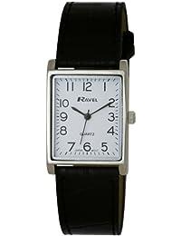 Ravel Damen-Armbanduhr, Analog, schwarzes PU-Armband, weißes Zifferblatt, R0120.02.1