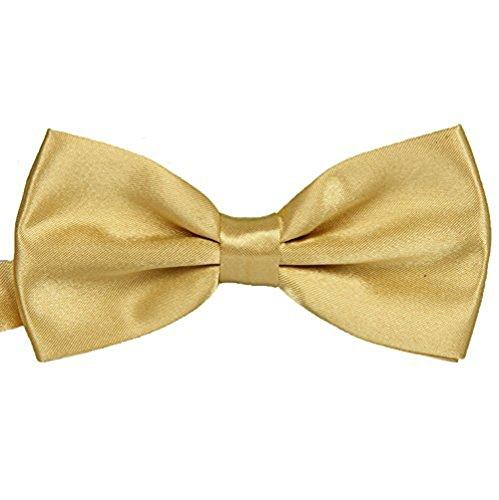 Worsendy Männer Krawatte / Damen Krawatte Verstellbarer Bowknot Niedlich Schleife Haarclips/Haarspangen Haarschmuck Ribbon Haar-Clips Für Mädchen 1 Stück (Gold)